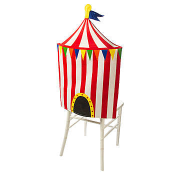 Each Circus Tent Chair Cover Measures 30 Inches Long X 20 Inches Wide And  Is Made Of Polyester. The Big Top Circus Chair Cover Will Accent Your  Tables ...